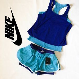 Nike Flex 2-in-1 Gym Running workout shorts.